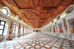 Spanish Hall of Ambras Castle in Innsbruck, Austria, Stock Photo