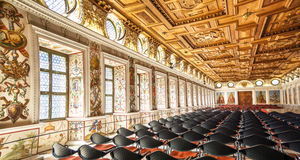 The Spanish Hall of famous Ambras Castle, Innsbruck, Austria Royalty Free Stock Photography