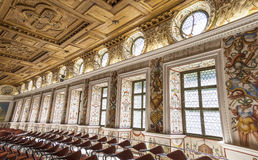 The Spanish Hall of famous Ambras Castle, Innsbruck, Austria Stock Images