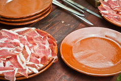 Spanish ham Royalty Free Stock Images