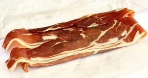 Spanish Ham. Spanish style cured Serrano ham Stock Images