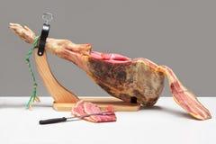 Spanish ham. Jamon Serrano Royalty Free Stock Photo