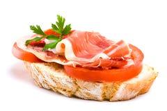 Spanish ham and tomato Stock Photo