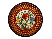 Spanish Hand Painted Plate. Spanish decorative hand made plate in variety of colours Stock Images