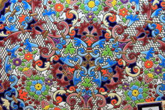 Spanish hand painted plate Royalty Free Stock Photos