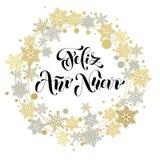 Spanish Happy New Year greeting card, Feliz Ano Nuevo Royalty Free Stock Photography