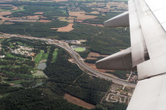 Spanish highway aerial view. Royalty Free Stock Photos