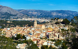 Spanish hillside village Polop de la Marina. Spain Stock Photo