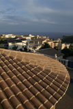 Spanish Holiday. Roof tops when sun is setting over the Costa Blanca Stock Image