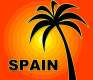 Spanish Holiday Indicates Go On Leave And Summer Stock Photo