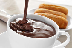 Spanish hot chocolate Royalty Free Stock Photography
