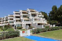 Spanish hotel apartments Royalty Free Stock Photos