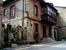 Spanish house. House in comillas, cantabrias, spain stock image