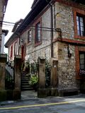 Spanish house. House in comillas, cantabrias, spain stock photography