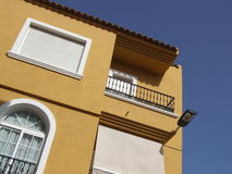 Spanish House. A brightly colored Spanish house in the sun Stock Image