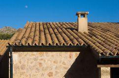 Spanish house with deep blue sky Stock Images