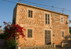 Spanish house Majorca. Exterior architecture of Spanish house on island of Majorca Royalty Free Stock Photography