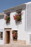 Spanish house. Typical andalucian house painted white Stock Photo