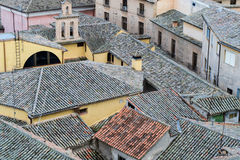Spanish houses and rooftops with tiles Stock Photo
