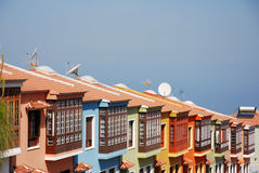 Spanish housing area. At Orovata, Canary Islands Royalty Free Stock Image