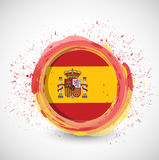 Spanish ink flag illustration design Stock Photos