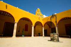 Spanish interior courtyard Stock Photo
