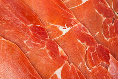 Spanish jamon iberico sliced Stock Images