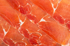 Spanish jamon iberico sliced Royalty Free Stock Photography