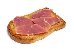 Spanish jamon on a toast Royalty Free Stock Photo