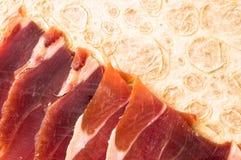 Spanish jamon on a tortilla Stock Photos