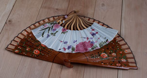 Spanish and Japanese Hand Fans Royalty Free Stock Images