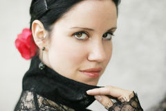 Spanish lady. Beautiful young woman in spanish style Stock Photography