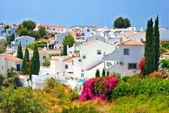 Spanish landscape in Nerja. Costa del Sol, Spain Stock Photography