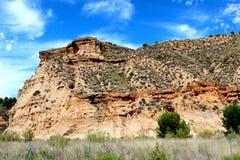 Spanish landscape. Spanish rock in andaluzia spain Royalty Free Stock Photo