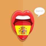 Spanish language concept. Stock Photos