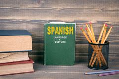 Spanish language and culture concept Stock Images