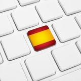 Spanish language or Spain web concept. National flag button  Stock Photos