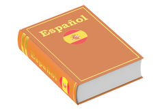 Spanish language textbook, 3D rendering. On white background Royalty Free Stock Image