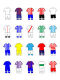 Spanish League Clubs Kits 2013-14 La Liga Stock Photo