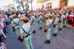 Spanish Legionnaires with cornets Stock Images