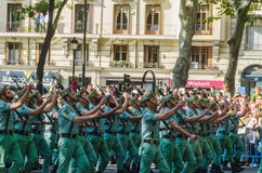 Spanish legionnaires marching Royalty Free Stock Photo