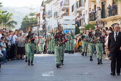 Spanish Legionnaires Marching Royalty Free Stock Image