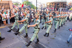 Spanish Legionnaires Marching Stock Photo