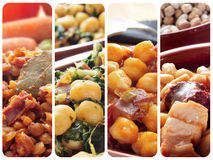 Spanish legume stews collage Royalty Free Stock Photo