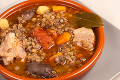 Spanish lentil stew Royalty Free Stock Photography