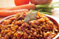 Spanish lentil stew Stock Photos