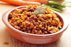 Spanish lentil stew Stock Image