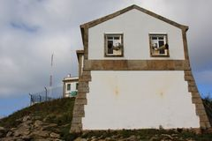 Spanish lighthouse at worlds end royalty free stock photo
