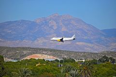 Vueling Airlines Flying Low Royalty Free Stock Image