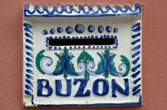 Spanish Mail box - Buzon Royalty Free Stock Images
